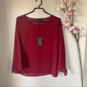 NWT W5 CONCEPTS / RED BUBBLE BLOUSE